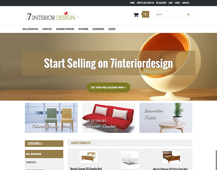7interiordesign Market place / Affilate website