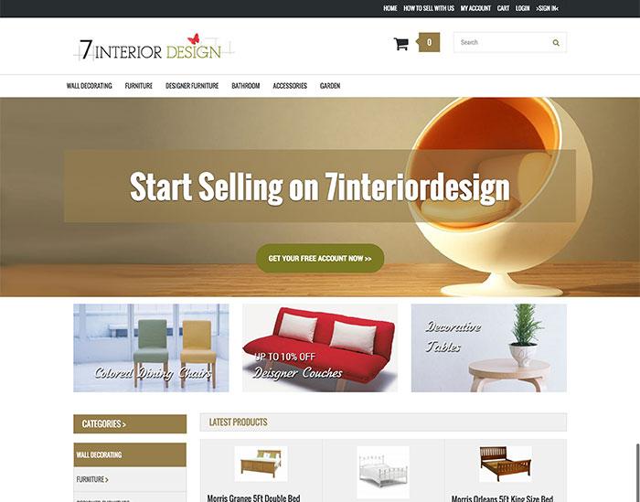 7interiordesign Market place / Affilate website
