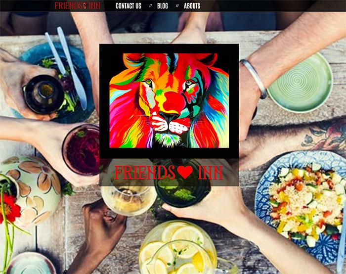 Friends inn Coffe shop website